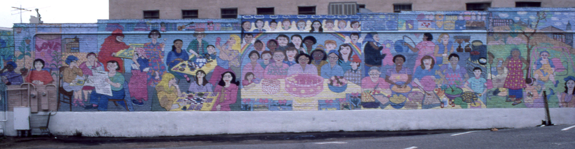 12 by 80 foot mural at the Downtown Women's Center, by Ann Wolken