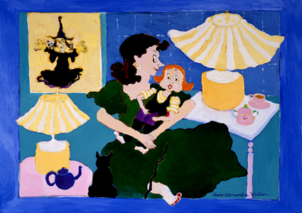 Ann Wolken - Mother And Baby With Yellow Witch