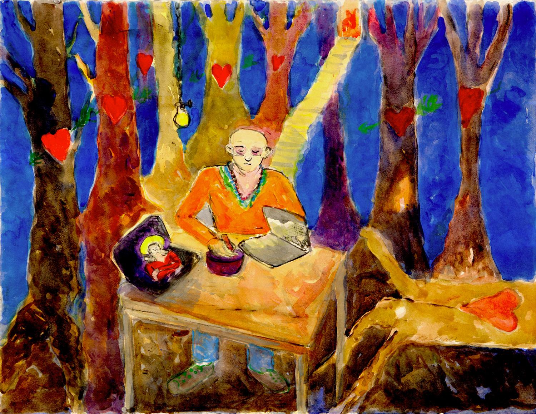 Guru In Forest